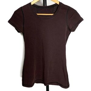 Lululemon Brown Scoop Neck Short Sleeve Shirt